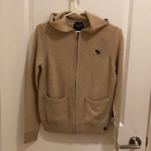 Abercrombie 100% cashmere sweater hoodie
